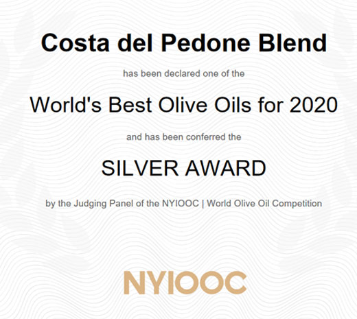 Gold Medal New York International Olive Oil Competition 2020