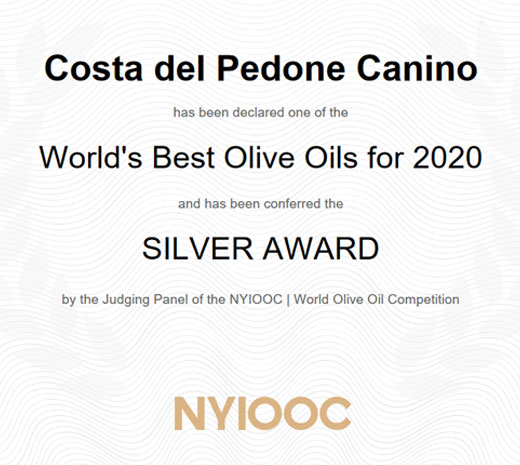 Silver AWARD New York International Olive Oil Competition 2020