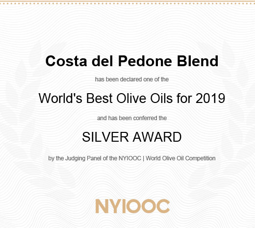 Silver Award AWARD 2019 New York International Olive Oil Competition