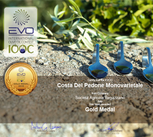 Gold Medal al EVO IOOC International Olive Oil Contest 2019
