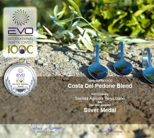 Silver Medal 2019 EVO IOOC International Olive Oil Contest